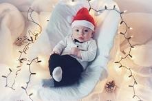 Sesja świąteczna niemowlaka