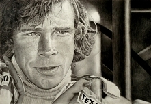 James Hunt portret wykonany...