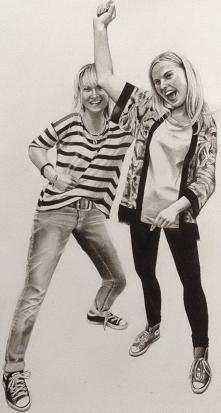Have Fun II, portret wykonany w Swindon w Anglii na papierze AcidFree, rozmia...