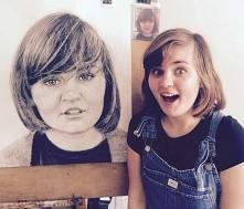 Bell portret wykonany w Swindon w Anglii na papierze AcidFree, rozmiar A0 z 2...