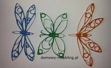 kolorowe motyle z rolek po ...