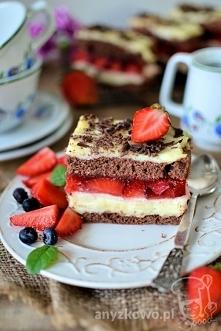 Pyszne ciasto z galaretką i...