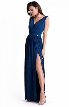 IVON Efektowna długa sukien...