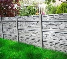 Ogrodzenie betonowe, które ...