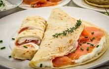 Naleśniki z serem i łososiem