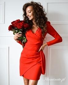 Czerwona sukienka na Walent...