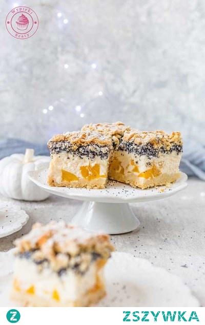 Sernik z brzoskwiniami i makiem - Najlepsze przepisy   Blog kulinarny - Wypieki Beaty
