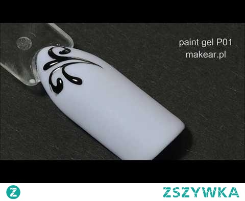Ornamenty, paint gel P01 makear.pl