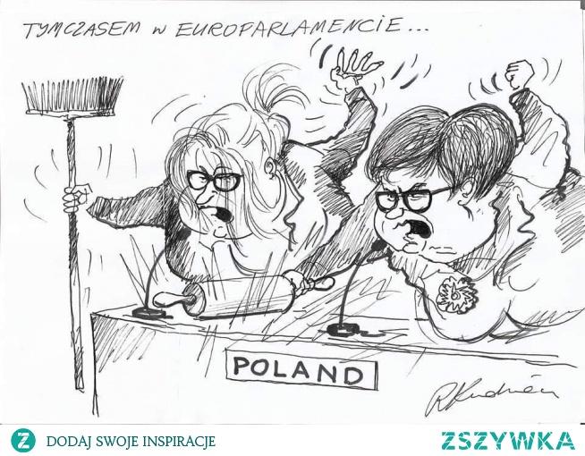 W sieci pojawiła się grafika przedstawiająca dwie brzydkie wrzeszczące postacie. Skojarzenia są jednoznaczne. Oto reprezentacja układu władzy. Wrzeszczące, kłótliwe baby, które partyjny interes wolą od rzetelnej pracy na rzecz naszego kraju. Czy naprawdę musimy znosić i tolerować niszczenie wizerunku Polski oraz awantury? Czy nie można tych kłótliwych bab odwołać i wysłać tam, gdzie sprawdzą się najlepiej – na przykład do magla ?