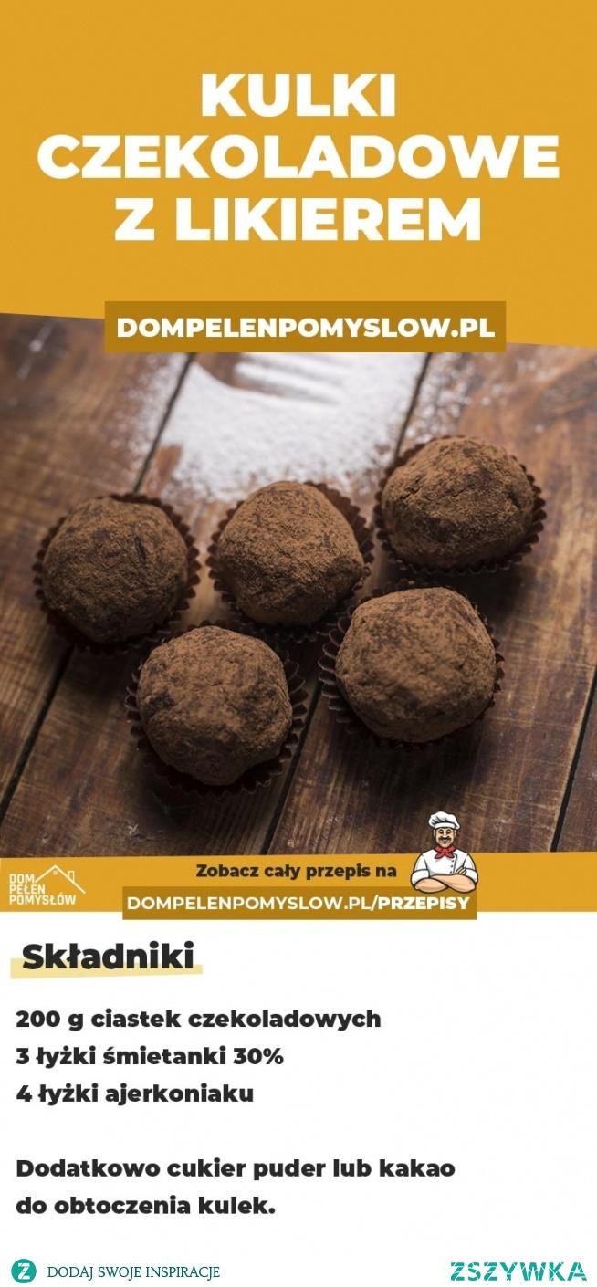 3-składnikowe kulki czekoladowo-likierowe – BEZ PIECZENIA