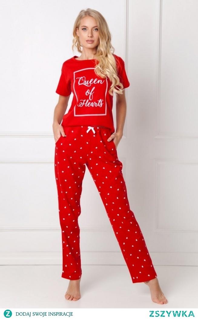 Aruelle Hearty Long Red piżama damska