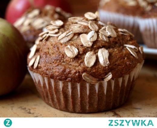 Razowe muffiny z otrębami