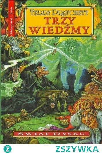 Lubię Terry'ego Pratchett'a. Póki żył, był doskonałym obserwatorem świata, potrafił wyłapać jego cechy, właściwości, charakterystyczne elementy. W którymś momencie życia stworzył cykl 'Świat dysku', opowiadający o świecie nie dość, że płaskim, to jeszcze opierającym się na czterech słoniach, stojących na skorupie wielkiego żółwia, płynącego przez kosmos. W świecie tym możliwa jest magia, i wiele tej magii w książkach Pratchett'a występuje. Każdy tom cyklu opowiada o czymś innym i jest ciekawym, niekiedy zaskakująco dokładnym odbiciem naszej rzeczywistości. 'Trzy wiedźmy' mówią o o teatrze i o tym, czym jest i czym nie jest, trzech wiedźmach, które, jeśli trzeba, potrafią użyć głowologii, o morderstwie króla i o tym, kto ma być jego następcą. Mówi o snujących się duchach zamordowanych ludzi, o Śmierci, który zawsze mówi wielkimi literami i czasem nieco się niecierpliwi, ale za to uwielbia koty, o demonach, które stały za drzwiami, kiedy rozdawano samogłoski i o wielu innych rzeczach. A jeśli ktoś zna Makbeta, to będzie się świetnie bawił. Ten, kto nie zna, też. 'Trzy wiedźmy' to bodajże szósty tom z kolei, ale to niczemu nie przeszkadza, bo każdy z nich można czytać nie znając całości, ale jeśli komuś zależy, to właśnie w 'Trzech wiedźmach' Pratchett przedstawia nam Babcię Weatherwax, Nianię Ogg i Magrat Garlick, których kolejne przygody można poznawać choćby w 'Wyprawie czarownic', która mówi mniej więcej o turystyce kulinarnej. Przy okazji, obrazek kradziony z lubimyczytac.pl