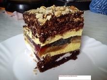OCZY CARYCY  Ciasto jasne: 6 białek 1,5 szklanki cukru 1 szklanki mąki ziemniaczanej 1 łyżka octu 1/3 szklanki oleju  Ciasto ciemne: 6 żółtek 2 jajka 6 łyżek cukru 4 łyżki mąki ...