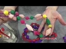 Biżuteria - korale z tektur...