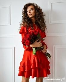 Sukienka na Walentynki z ko...