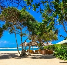 Nusa Dua Beach, Indonezja. ...