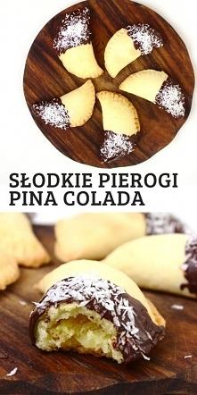 Pieczone pierogi Pina Colada