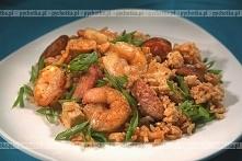 Ryż z wieprzowiną i krewetkami