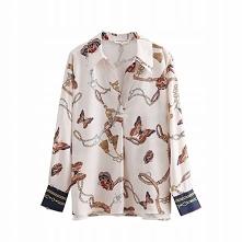 Koszula w modny print łańcu...