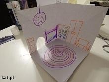 Domek 3D z kartek papieru. ...