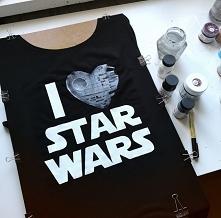 Koszulka ręcznie malowana b...