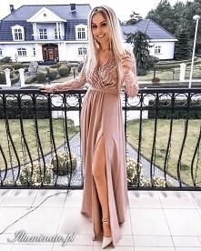Cekinowa sukienka na wesele...