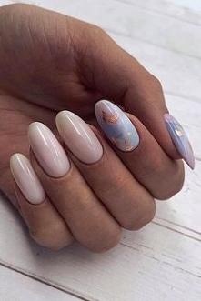 pastel pink nail design