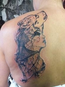 mój nowy nabytek #tattoo #wolf