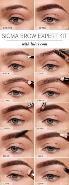 step by step eyebrow tutorial