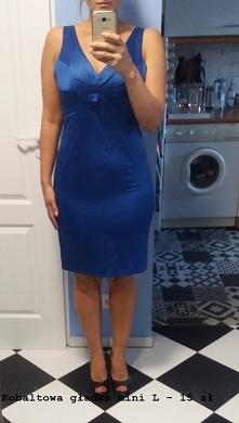 sprzedam sukienka kobalt