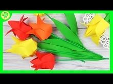 Jak zrobić: Tulipan Origami...