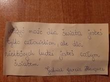 Cytat dnia - Gabriel Garcia...