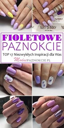 FIOLETOWE PAZNOKCIE – TOP 1...