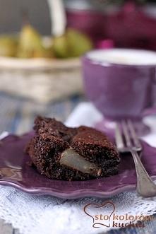 brownie gruszkowe