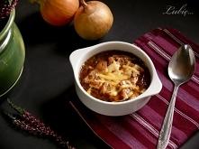 Zupa cebulowa z grzankami s...