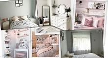 Stylowa sypialnia za niewie...