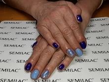 Neonail Blue Hiacynth, Blue Cream Jelly, pixel effect Kopciuszek indigo