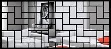 Lustro dekoracyjne Cegiełka z czarną lub białą ramką -4FunDesign.com
