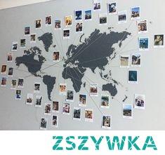 world map polaroid