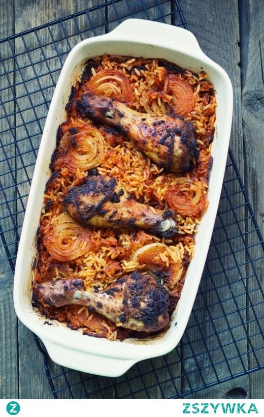 Pałki z kurczaka zapiekane z ryżem