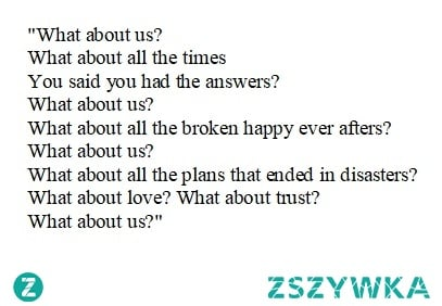 """""""What about us"""" - P!nk"""