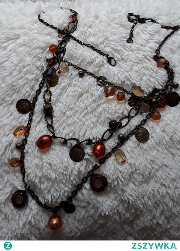 Ozdobny łańcuch na biodra (do spodni, spódnicy) z koralikami regulowany zdjęcia sobrze oddają wygląd 30 zł