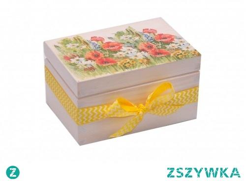 Skrzyneczka z polnymi kwiatami :)