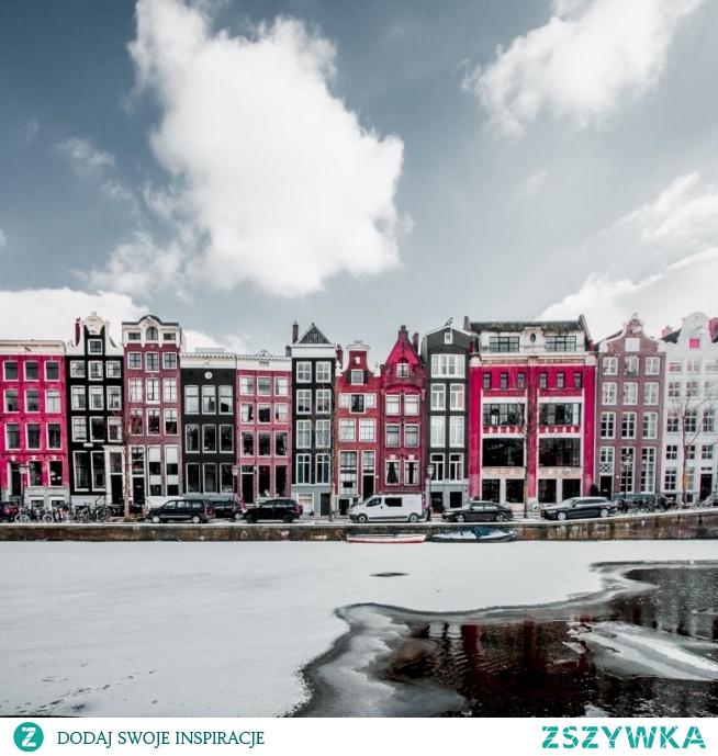 Zabudowa w Amsterdamie, Holandia ❤️ Puzzle po kliknięciu