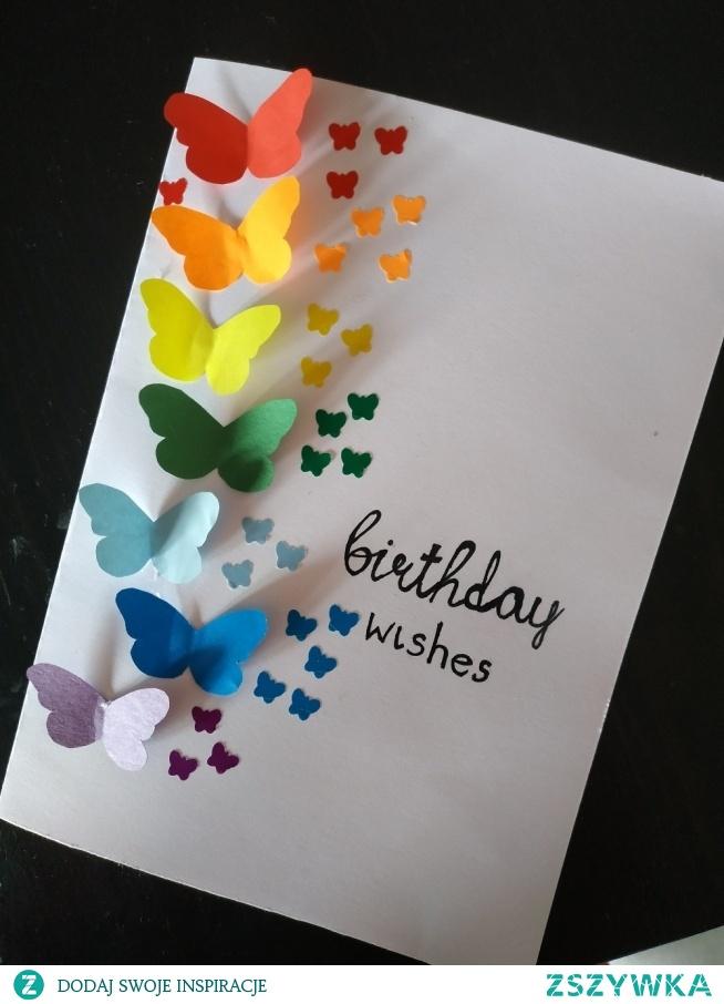 kartka urodzinowa DIY