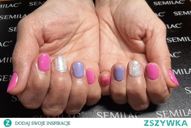 Semilac 277, 001, Neonail Berrylicious, Indigo efekt śnieżki