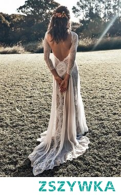boho hippie beach wedding dresses