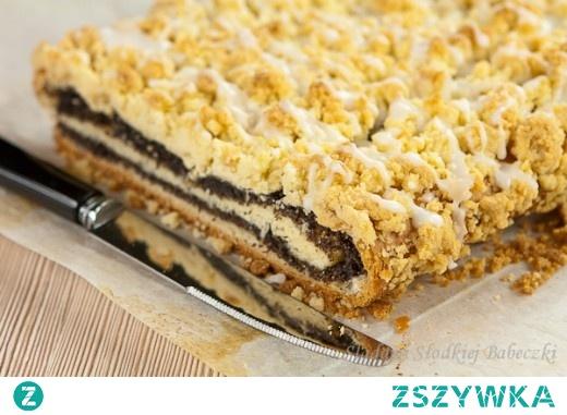 Makowe ciasto z kruszonką