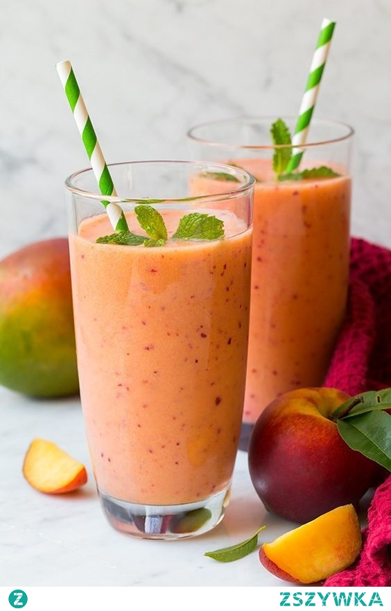 mango peach and strawberry smoothie